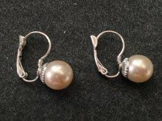 are leverback earrings for pierced ears details about 925 sterling silver 6mm freshwater button pearl