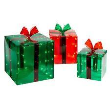 Christmas Decoration Light Up Presents by Lighted Gift Boxes Ebay