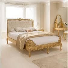 Gold Bed Cushions Antique French Style Ornate Gold Leaf Bed Mattress Deal