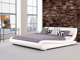 White Leather Sleigh Bed Best 25 White Leather Bed Frame Ideas On Pinterest Leather Bed