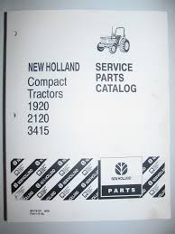 buy new holland ford 1156 tractor parts catalog book manual 5 92