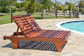 No Cushion Outdoor Furniture - redwood patio lounger with straight lines u0026 stylish leg design