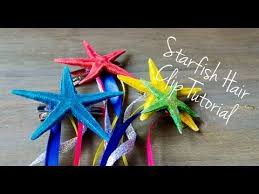 starfish hair clip diy starfish hair clip in 5 easy steps