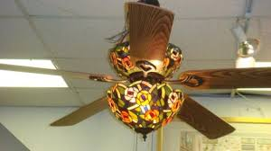 5 blade ceiling fan with light stained glass ceiling fans 206c stained glass 5 blade ceiling fan