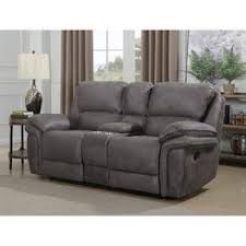 dual recliner sofa with console