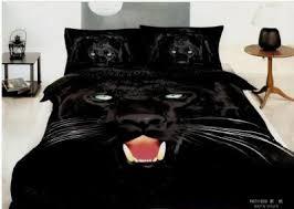 Manly Bed Sets 4pcs Manly Bedding Fierce Panther Duvet Cover Set 100