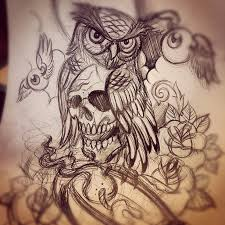 tribal owl tattoo sketch photo 2 2017 real photo pictures