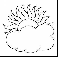 brilliant sun and clouds coloring page with sun coloring pages
