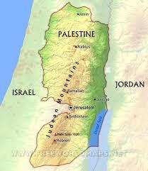 Jordan River Map West Bank Map