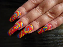 psychedelic summer swirl water marble nail art design flickr