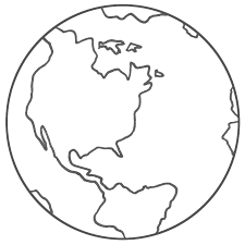 Printable Earth Coloring Pages color paper of the earth planet earth coloring pages march