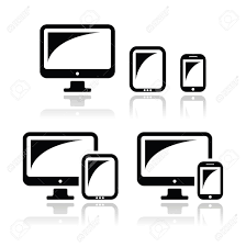 table computer tablet phone icon industrial large computer