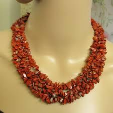red collar necklace images Vintage jasper jewelry vtg red jasper nugget collar necklace jpeg