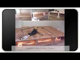 bed designs plans platform bed design plans