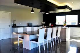 cuisine avec coin repas ilot central cuisine design best credence ilot