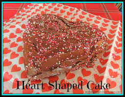 How To Decorate Heart Shaped Cake Heart Shaped Cake For Valentine U0027s Day Walking On Sunshine