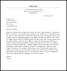cover letter preschool teacher sample cover letter for teacher