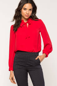 blouse with tie neck s blouses kayley tie neck blouse a gaci