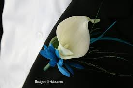 calla boutonniere calla boutonniere with a blue orchid these might be real