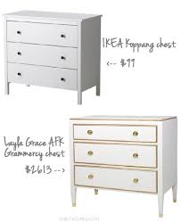 our white u0026 gold ikea nightstand makeover emily a clark