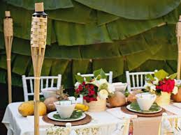 Hawaiian Themed Backyard How To Throw A Luau Party Ideas And Recipes Cooking Channel