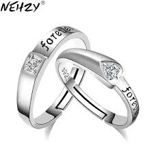 heart shaped wedding rings nehzy 2017 fashion brand silver jewelry dear heart shaped