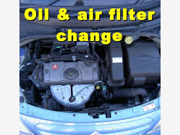 oil oil filter and air filter change on a citroen c3 2006 2008 3