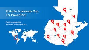 Guatemala World Map by Editable Guatemala Powerpoint Map Slidemodel