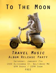 travel music images Travel music album release party jan 7th to the moon jpg
