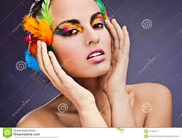 feathers in hair model with feathers in hair stock image image 34767921