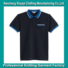 super low price different color collar and cuff polo shirt color