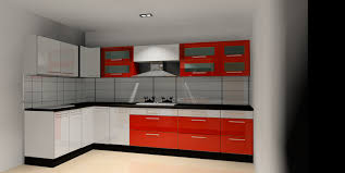 chic modular kitchen with l shape with brown color kitchen