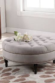leather ottoman round uncategorized tufted ottoman coffee table with best square