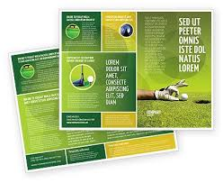 38 best golf images on pinterest golf brochures and print templates