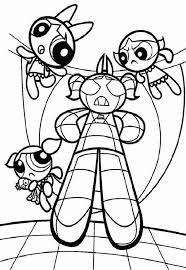 powerpuff girls robot bubbles coloring color luna