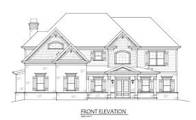 2 story house plans two story 4 bedroom home plan with 3 car garage