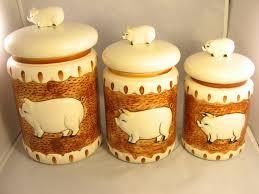 pig kitchen canisters 28 images pig kitchen canister set 3