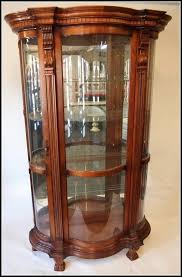 curved corner curio cabinet archive with tag curved glass curio cabinet worth steeltownjazz