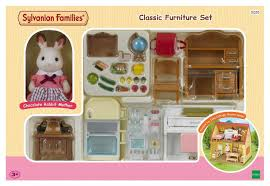 sylvanian families classic furniture set for cosy cottage jac in