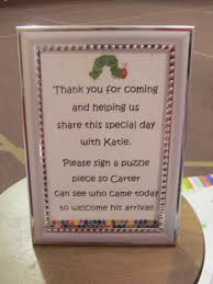 baby shower sign in book hungry caterpillar baby shower a luck