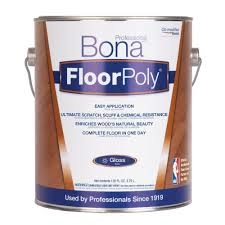Bona Matte Floor Finish by Bona 1 Gal Gloss Floor Finish Om Floorpoly St750018060 The Home