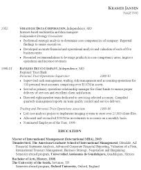 Resume Objective For Mba Model Resume Examples
