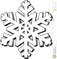 fine snowflake drawing effect with decorating