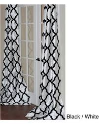 108 Inch Panel Curtains Don U0027t Miss This Deal Trellis Bold Flocked Curtain Panel White