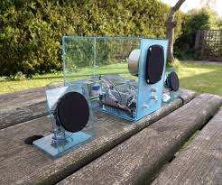 upcycle an old speaker system into a modern and see through one