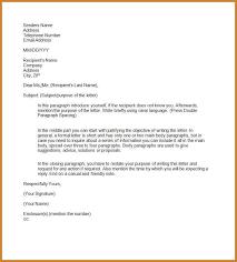 formal letter format sample notary letter