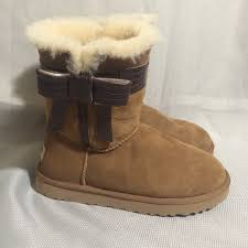 ugg womens josette boot 44 ugg shoes ugg josette bow boots from willow s closet on