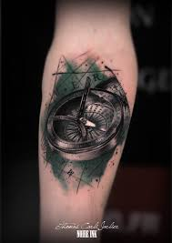 compass tattoo cracked tattoo black and gray tattoos