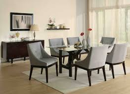 modern formal dining room sets six grey dining chair contemporary dining room set modern glass