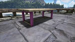 wooden table official ark survival evolved wiki